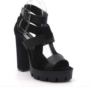 Black Open Toe Heels